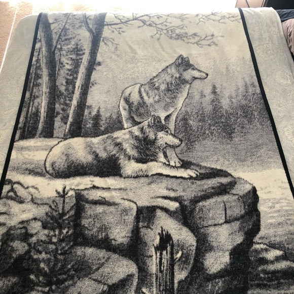 Image result for biederlack wolf blanket